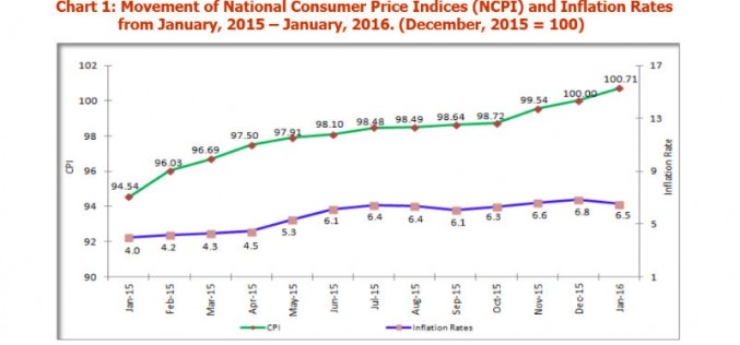 Tanzania Inflation Goes Down To 6.5% In January 2016