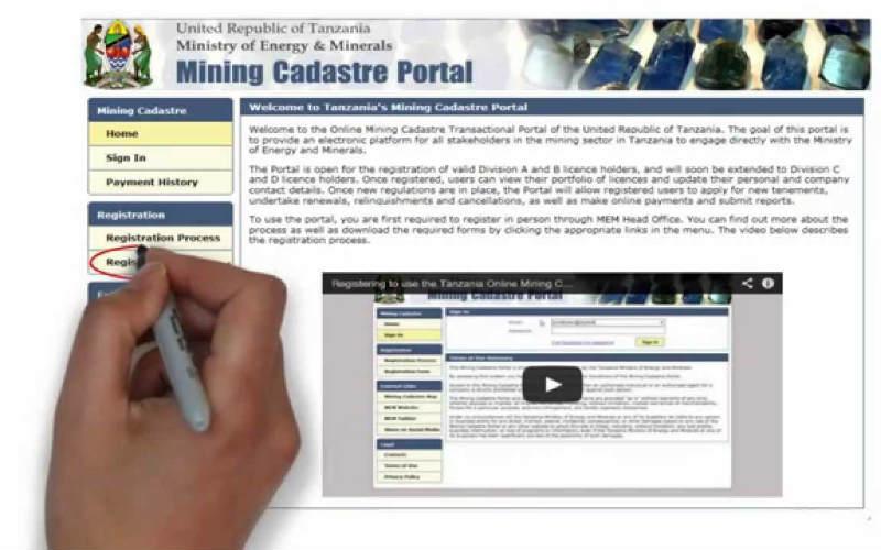 tanzania-online-mining-cadaster-transactional-portal