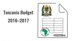 afdb tanzania budget support 2016 2017