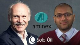 Jay Bhattacherjee CEO of Aminex with Neil Ritson Chairman of Solo Oil