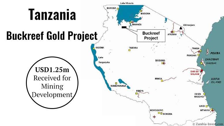 Tanzania Buckreef gold mine financing 2016