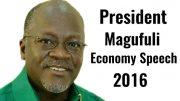 Magufuli speech economy 2016