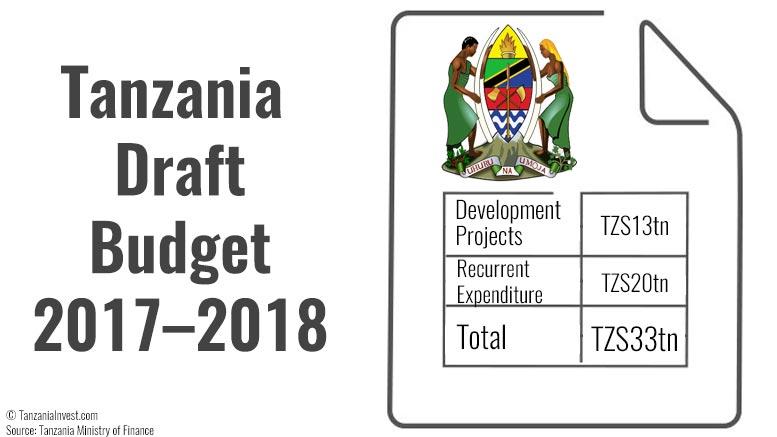 Tanzania draft budget 2018