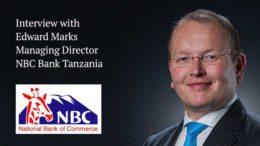 Edward Marks MD of NBC bank Tanzania