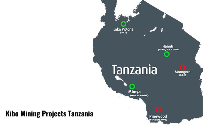 Kibo Mining projects in Tanzania
