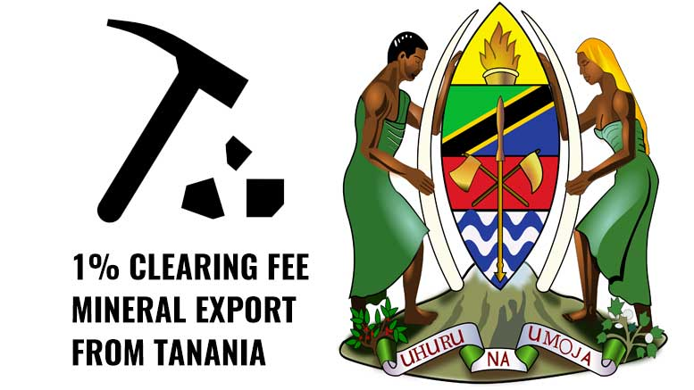 Tanzania Clearing Fee mineral Exports