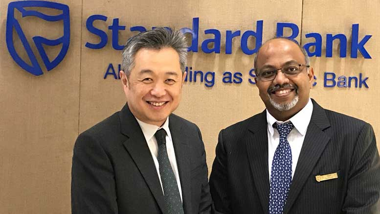 Kah Chye Tan of CCRM and Vinod Madhavan of Standard bank