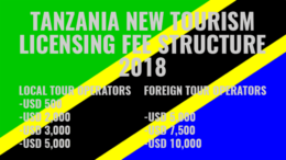 Tanzania tourism licensing fee 2018