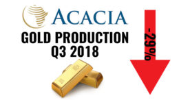 Acacia Gold production Tanzania Q3 2018