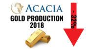 Acacia Mining Tanzania gold production 2018
