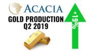Acacia Gold production Tanzania Q2 2019