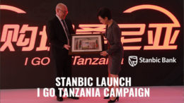 Stanbic Bank Tanzania CEO Ken Cockerill with Ambassador of China Wang Ke