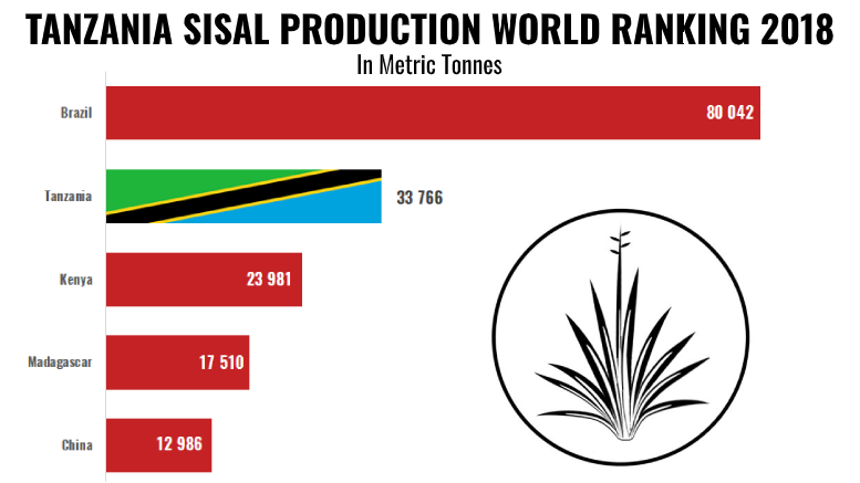TANZANIA SISAL PRODUCTION 2018 WORLD RANKING