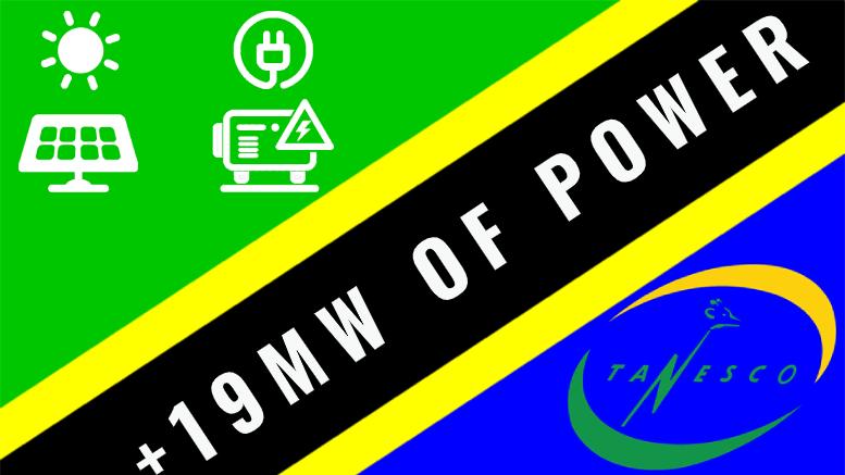 Tanzania Tanesco 19MW Renewable Electricity 2020