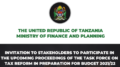 Tanzania Tax Reform Task Force Invite 2021-2022