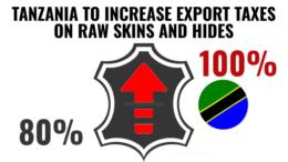 Tanzania raw skins hides export tax