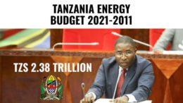 Tanzania energy budget 2021-2022
