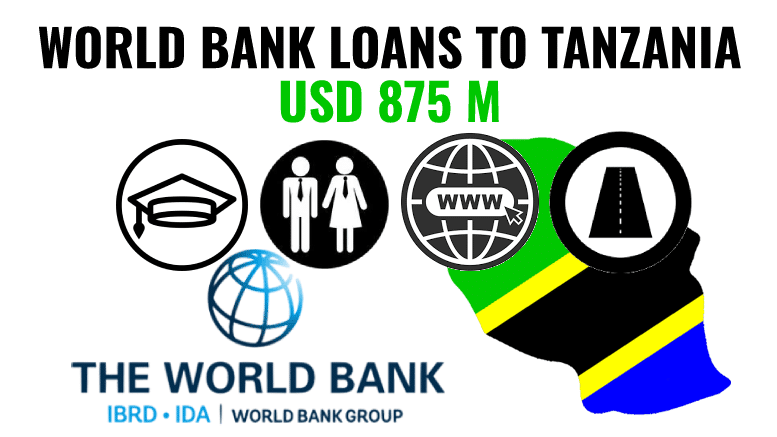 World Bank Tanzania 2021 loan roads education employment internet