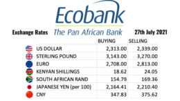 Ecobank Tanzania Exchange Rates 27 July 2021