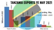 Tanzania exports YE May 2021