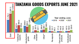 Tanzania Gold and Goods Exports June 2021