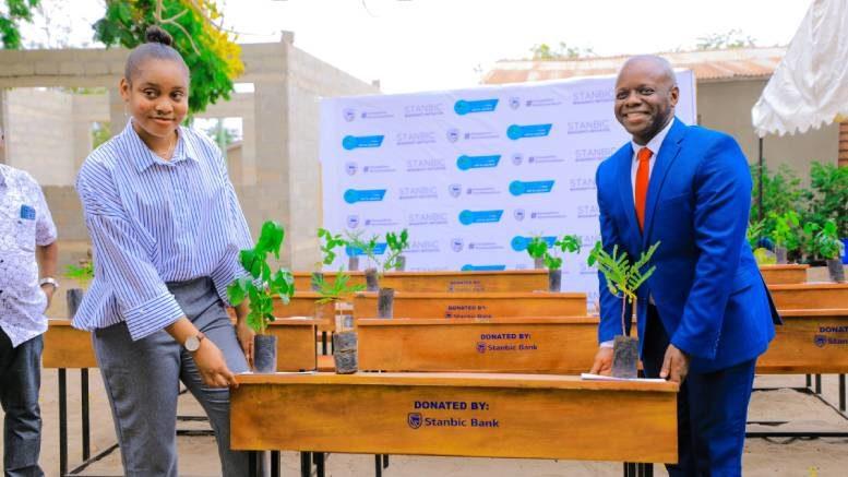 Stanbic Bank Tanzania Desks Tuangoma Primary School Omari Mtiga