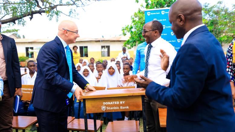 Stanbic Tanzania Donates Desks To Kijitonyama Secondary School